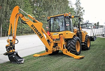 Hydrema 928F backhoe loader